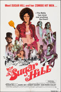 "Movie Posters:Blaxploitation, Sugar Hill (American International, 1974). Folded, Overall: Fine/Very Fine. One Sheet (27"" X 41"") & Lobby Card Set of 8 (11""... (Total: 9 Items)"