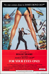 "For Your Eyes Only (United Artists, 1981). Folded, Very Fine. International One Sheet (27"" X 41"") Bryan Bysout..."