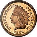 Proof Indian Cents, 1862 1C PR66+ Cameo PCGS....