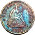 1873 25C Quarter Dollar, Judd-1270, Pollock-1412, High R.7, PR66 Red and Brown PCGS....(PCGS# 71555)