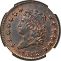 Large Cents, 1812 1C Small Date, S-290, B-2, R.1, MS62 Brown NGC....