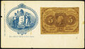 Civil War Era Great Seal of New Jersey Envelope with a Fr. 1230 5¢ First Issue Affixed Not Graded
