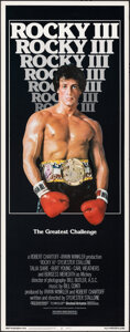 """Movie Posters:Sports, Rocky III (United Artists, 1982). Rolled, Very Fine+. Insert (14"""" X 36""""). Sports.. ..."""