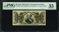 Inverted Back Plate Number 32 Fr. 1332 50¢ Third Issue Spinner PMG Choice Very Fine 35