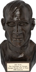 Football Collectibles:Others, 1998 Georgia-Florida Sports Hall of Fame Bust Presented to Jake Scott from The Jake Scott Collection. ...
