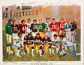 Football Collectibles:Others, 1985 Super Bowl MVPs Limited Edition (29/55) Signed Print from The Jake Scott Collection....