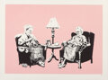 Prints & Multiples, Banksy (b. 1974). Grannies, 2006. Screenprint in colors on wove paper. 22-1/2 x 30-1/8 inches (57.2 x 76.5 cm) (sheet). ...