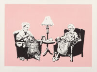Banksy (b. 1974) Grannies, 2006 Screenprint in colors on wove paper 22-1/2 x 30-1/8 inches (57.2