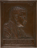 Political:3D & Other Display (1896-present), Theodore Roosevelt: Bronze Bas Relief Portrait Plaque by James Earle Fraser. ...