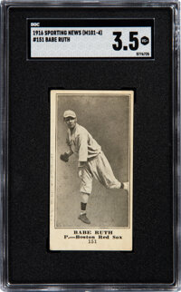 1916 M101-4 Sporting News Babe Ruth Rookie #151 SGC VG+ 3.5