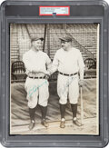 Baseball Collectibles:Photos, The Finest Known Babe Ruth & Lou Gehrig Signed Photograph, PSA/DNA Type 1 & Auto 9....