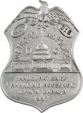 Political:Inaugural (1789-present), Franklin D. Roosevelt: Extremely Rare 1937 Metropolitan Police Inauguration Badge. ...