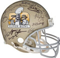 Football Collectibles:Helmets, 2016 Super Bowl Most Valuable Players Multi-Signed Super Bowl L Full Sized Helmet from The Jake Scott Collection....