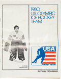 Hockey Collectibles:Others, 1980 USA Olympic Ice Hockey Team Tickets & Program Lot of 17....
