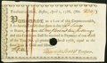 Colonial Notes:Massachusetts, Massachusetts Treasury Certificate 1786 £1.10s Anderson MA-UNL Very Fine, POC, pen cancelled.. ...