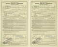 Boxing Collectibles:Autographs, 1978 Muhammad Ali & Leon Spinks Signed Fight Contracts for First Bout....