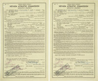 1978 Muhammad Ali & Leon Spinks Signed Fight Contracts for First Bout