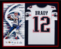 Football Collectibles:Uniforms, 2019 Tom Brady Signed New England Patriots Jersey Display. ...