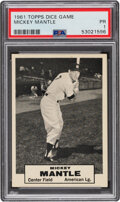 Baseball Cards:Singles (1960-1969), 1961 Topps Dice Game Mickey Mantle PSA Poor 1....