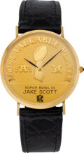 Football Collectibles:Others, 1972 Super Bowl VII Most Valuable Player Watch Presented to Jake Scott from The Jake Scott Collection. ...