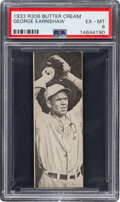 Baseball Cards:Singles (1930-1939), 1933 R306 Butter Cream George Earnshaw (October 1) PSA EX-MT 6 - Pop Two, None Higher. ...