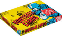 1976 Topps Football Cello Box With 24 Unopened Packs - Payton Rookie Year!