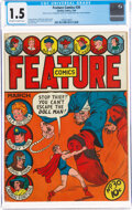 Golden Age (1938-1955):Miscellaneous, Feature Comics #30 (Quality, 1940) CGC FR/GD 1.5 Off-white to white pages....