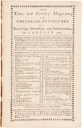 """Miscellaneous:Ephemera, Report on the """"Boston Tea Party"""" in the Town and Country Magazine...."""