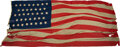 Miscellaneous:Ephemera, U. S. Flags: Massive 38-Star Flag Supposedly Flown in the 1876 Centennial State of Colorado....
