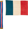 Miscellaneous:Ephemera, WWI: French Flag Used by US Troops....