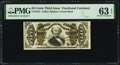 Back Plate Number 10 Fr. 1331 50¢ Third Issue Spinner PMG Choice Uncirculated 63 EPQ
