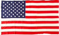 US 50-Star Flag Flown Over Capitol to Commemorative Admission of Hawaii as 50th State