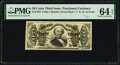 Inverted Back Plate Number 32 Fr. 1332 50¢ Third Issue Spinner PMG Choice Uncirculated 64 EPQ