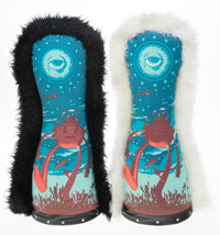 Jeff Soto X Circus Punks Circus Punks (set of 2), 2006 Screenprints on stuffed fabric with wooden base 27 inches (68...