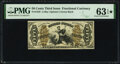 Inverted Back Plate Number 21 Fr. 1358 50¢ Third Issue Justice PMG Choice Uncirculated 63 EPQ★