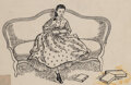 Works on Paper, American School (19th Century). Little Women, interior illustration, 1868, . ... (Total: 4 Items)