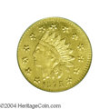 California Fractional Gold: , 1875 50C Indian Round 50 Cents, BG-1037, R.4, MS65 NGC. A ...