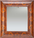 Furniture, A William and Mary Olive Wood and Oyster Veneer Cushion Frame Mirror, England, circa 1690. 24-1/4 x 22 x 2-7/8 inches (61.6 ...