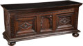 Furniture, A Continental Carved Wood Chest with Glass Top, 18th century. 27-3/4 x 64 x 21-1/2 inches (70.5 x 162.6 x 54.6 cm). ...