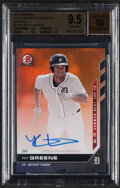 Baseball Cards:Singles (1970-Now), 2019 Bowman Next Top 20 Autograph Riley Greene (Orange) #T20E BGS Gem Mint 9.5, Auto 10 - Serial Numbered 2/5....