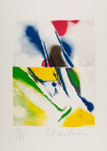 Prints & Multiples, John Chamberlain (1927-2011). #3 and #4, from Flashback series, 1979. Screenprints in colors on Arches paper. 28 x 2... (Total: 2 Items)