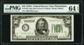 Fr. 2101-C $50 1928A Dark Green Seal Federal Reserve Note. PMG Choice Uncirculated 64 EPQ