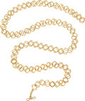 Estate Jewelry:Necklaces, Gold Necklace, Valentin Magro The 18k gold int...
