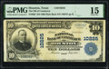 Houston, TX - $10 1902 Plain Back Fr. 628 The National Bank of Commerce Ch. # 10225 PMG Choice Fine 15