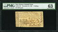 New Jersey December 31, 1763 1s PMG Choice Uncirculated 63