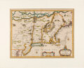 Miscellaneous:Maps, 17th Century Map of New England by Cartographer Francis Lamb....