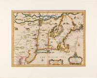 17th Century Map of New England by Cartographer Francis Lamb