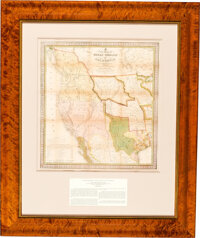 S[amuel] Augustus Mitchell: A New Map of Texas, Oregon and California, with the Regions Adjoining</