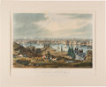 Antiques:Posters & Prints, Hand-Colored Aquatint of Baltimore by William James Bennett....