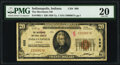 Indianapolis, IN - $20 1929 Ty. 1 The Merchants National Bank Ch. # 869 PMG Very Fine 20